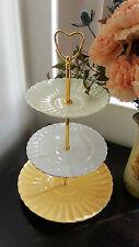 3 Tier Cake Stand Vintage Plates Royal Albert Wedding Gift High Tea