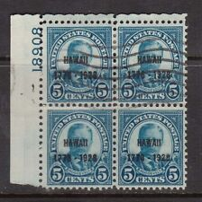 USA #648 Used Plate Block