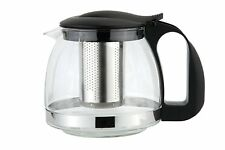 600MLGLASS TEAPOT WITH INFUSION INFUSER LEAF HERB GREEN TEA POT COFFEE MAKING