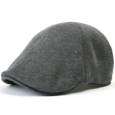 ililily Soft Cotton Newsboy Flat Cap Pre-curved Ivy Stretch-fit Driver Hunting