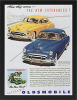 OLDSMOBILE 1949 VINTAGE AD REPRO NEW A3 FRAMED PHOTOGRAPHIC PRINT POSTER