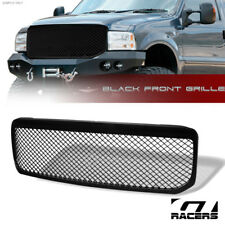 For 1999-2004 Ford F250/F350/F450 Glossy Blk Mesh Front Bumper Grill Grille Abs