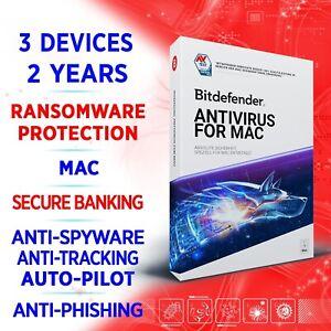 Bitdefender Antivirus for Mac 2021 3 devices 2 years / FULL EDITION +VPN