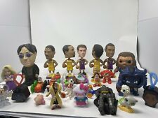 Large Lot of 53 Toys Various Dolls Action Figures Disney Funko Pop & More