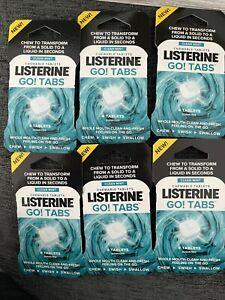 12, 48, 96, 144 x Listerine Go! Tabs Clean Mint Chewable Fresh Breath Chew