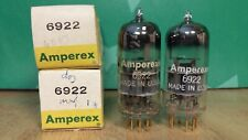 Pair of Amperex PQ 6922 E88CC NOS NIB Gold Pin 1960 D-getter Vacuum Tubes