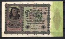Allemagne  - Germany billet de 50000 mark (1) pick 80 19 novembre 1922 Very Fine