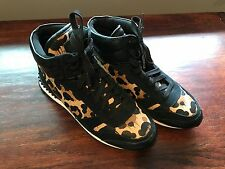 Coach Moonlight A00113 Leopard High Top Sneakers Running Shoes Animal Print SZ 7