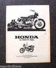 P616 - Advertising Pubblicità -1973- HONDA , LA MOTO IN VOGA