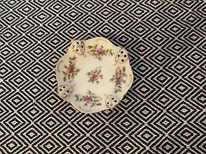 Rosenthal Moosrose Schale klein Sanssouci Elfenbein Goldrand Schale 10 cm weiß