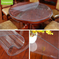 PVC Clear Round Table Protector Transparent Tablecloth Waterproof Soft Glass