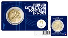 PREVENTE Coincard BU 2 Euros Commémorative France 2021 Olympic Bleu