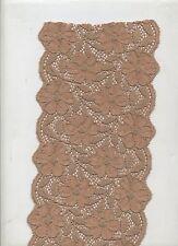 1 mètre de dentelle beige caramel souple et élastique 14.5 cm  loisirs couture