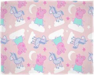 Official Peppa Pig Stardust Fleece Blanket Throw
