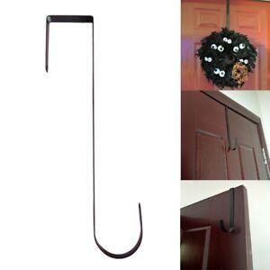"""UK 1/2/5x Over The Door Wreath Holder 12"""" Metal Hook Black Coat Towel Hanger Hot"""