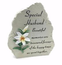 Special Husband Lily Graveside Memorial Plaque Rock Ornament Decoration DF16145G