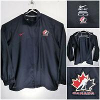Nike Dri Fit Hockey Canada Mens XL Full Zip Jacket Team Canada Black