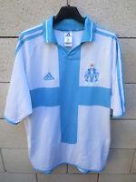 VINTAGE Maillot OLYMPIQUE de MARSEILLE ADIDAS 2001 OM shirt maglia STOCK PRO L