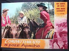 FOTOBUSTA CINEMA - COMBATTIMENTO AI POZZI APACHE - BEN COOPER - 1957 -WESTERN-04