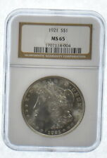 MS65 1921 Morgan Silver Dollar - Graded NGC Last Year Morgan! MS-65