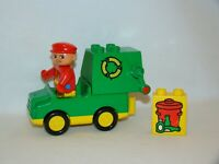 Lego Duplo Vintage #2613 Recycling / Garbage Truck Complete Set