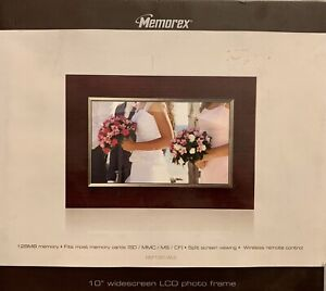 "Memorex 10"" widescreen LCD photo frame w/wireless remote / Digital"