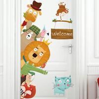 Safari Animals Kids Wall Art Stickers Vinyl Decal Nursery Home Decor Mural Gift