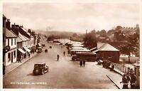 POSTCARD   SCOTLAND    DUMFRIES   Whitesands   Vintage  Cars  and  Buses      RP