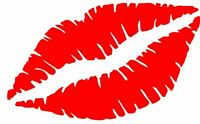 KISS LIPS STICKER CAR DECAL SEXY LOVE WINDOW CAR LAPTOP CHOOSE SIZE/COLOR