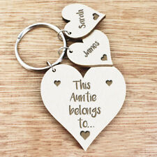 Personalised Gifts For Her Auntie Nanny Mummy Grandma Nana Women Keyring