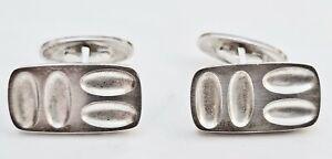 Boutons de manchettes argent (silver) modernistes Henning Koppel Georg Jensen