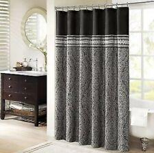 Madison Park Barton Shower Curtain 72X72 Black