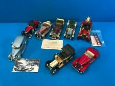Lot of 8 Vintage Cars Diecast Collectibles SilverGhost Packard