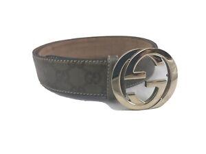 Gucci Men's 38 Inch Belt with Interlocking G Buckle