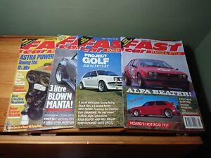 Bundle Lot 4 Fast Car Magazines 1990 Opel Manta Astra Alfa Romeo VW Golf