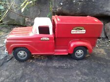 Vintage Tonka Toys Deluxe Red Sportsman Pick Up Truck w/ Bed Topper