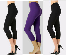 Donna Leggings Treggings Jeggings Stretch anca Capri 3//4 Shorts Pantaloni Estate