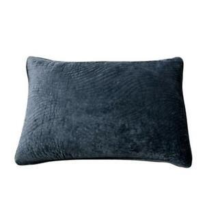 Tache Velvet Deep Dark Blue Grey Plush Super Soft Decorative Pillow Sham Case