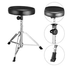 Height Adjustable Drum Stool Seat Throne Heavy Duty Seat Style Padded Top Thread