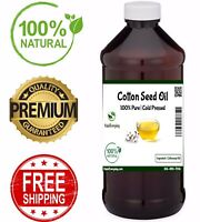Cottonseed Oil - 100% Pure Organic Cold Pressed Undiluted Carrier Oil ALL SIZES