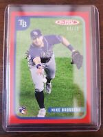 2020 Topps Total Mike Brosseau RC Red Border 04/10 836 Tampa Bay Rays Wave 9