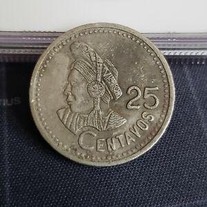 Guatemala 1997 25 Centavos Copper-Nickel Coin.