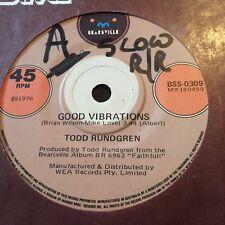"TODD RUNDGREN....GOOD VIBRATIONS (Beach Boys) - - Rare 1976 Australian 7"" 45"