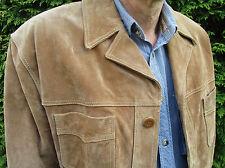 GIPSY Trapper Style Verlour Leder Jacke Camel Gr. XXL (54)