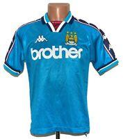 MANCHESTER CITY 1997/1998/1999 HOME FOOTBALL SHIRT JERSEY KAPPA SIZE XS ADULT