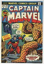 Captain Marvel 26 Starlin art! Thing! Thanos! 1st app Death! 1973 Comic (j#5561)