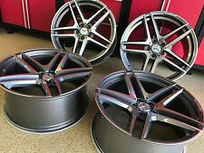 MERCEDES 20 IN GUNMETAL CONCAVE  S65 RIMS NEW SET4 S550 S500 S430 S63 S55  AMG