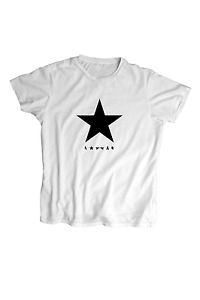 Bowie Black Star T-Shirt - For Kid's ,Men's and Women's-Screen Printed
