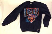 Vtg 90s Logo 7 Chicago Bears Sweatshirt sz LT Large NFL 1994 Front and Back Pics