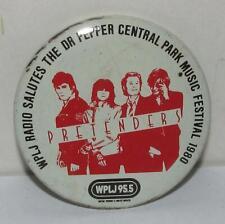 "Pretenders 2.25"" Pinback Button - Wplj Central Park, Ny Music Festival 1980"